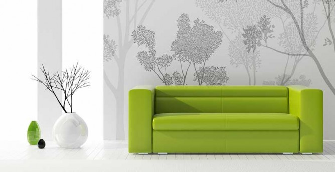 Residential and commercial interior cleaning in Phoenix by First Glass Green Cleaning showing a clean green chair