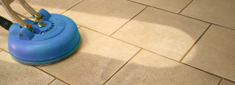 Residential and commercial interior cleaning in Phoenix by First Glass Green Cleaning showing tile cleaning